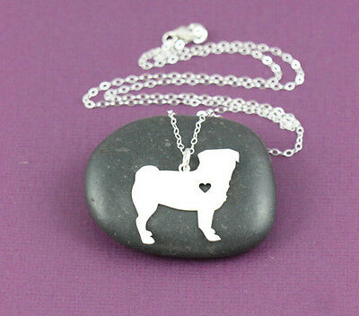 Pug standing pendant necklace dog collectible No.70