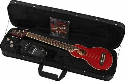 Washburn RO10TR Rover Steel-String Travel Acoustic Guitar Package w/Case - RED