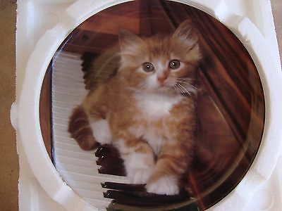 "Kitten on the Keys Collector Plate #6376A Great  Music Gift 7.75""  NIB"
