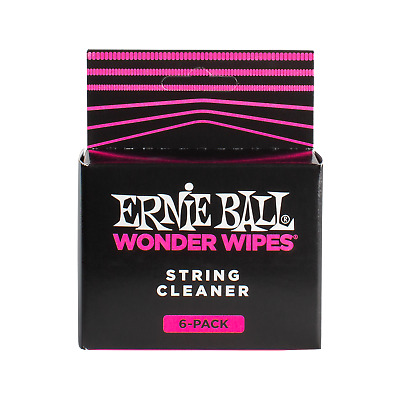 Ernie Ball Wonder Wipes - String Cleaner 6-pack Guitar Care & Maintenance