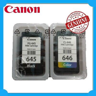 Canon PG645+CL646 Genuine TWIN PACK Ink->MG2460 MG2960 MG2965 MX496 MG3060 Unbox