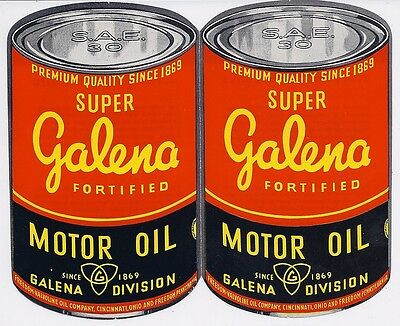 1940's vintage Super Galena Fortified Motor Oil brochure Havoline Oil Company