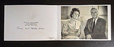 Harold And Mary Wilson - Former Prime Minister - Superb Signed Greetings Card