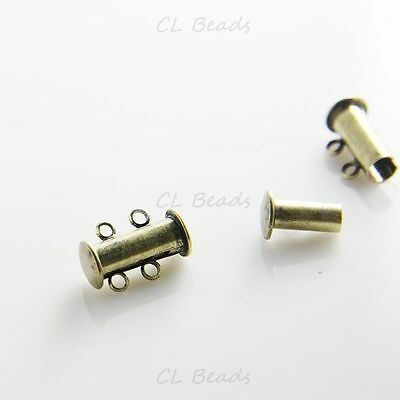 Antique Brass Flat Magnetic Clasp fits Regaliz Leather Pack of 1 G17//7