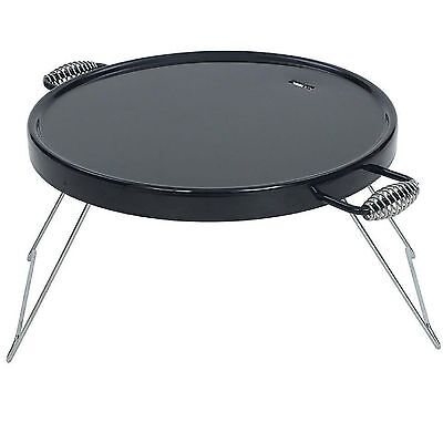 """Bayou Classic 500-428 Black Portable 18"""" Campfire Griddle Grill Camp Stove"""
