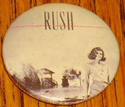 Rush  Button  Permanent Waves  1 1/4 Inch  New!  Rock & Roll!