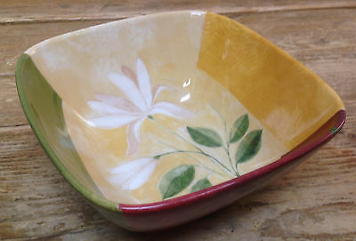 Antiques Ceramics & Porcelain Kyoto 222 5th 1 Square Dinner Plate Fine China Flower Geometric Green Yellow Red Moderate Price