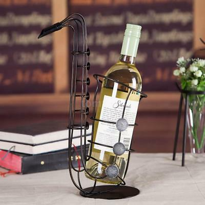 Tooarts Metal Sax Wine Rack Wine Bottle Holder Bar Creative Ornament Crafts Arts