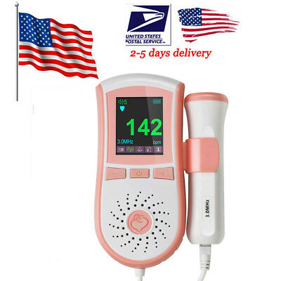 Fetal Doppler 3MHz +LCD Display heart rate Fetus-voice Jumper + GELTop CE