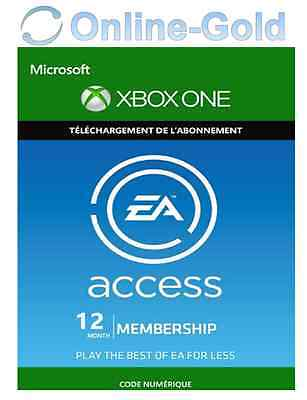 EA Access Xbox One 12 Mois Abonnement Clé - ORIGIN Membership Carte - [EU][FR]
