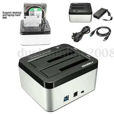 SEATAY 2.5''/3.5'' USB3.0 Double SATA SSD HDD Disque Dur Station Dock Docking