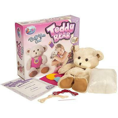 Childrens/Kids A Make/Build Your Own Stuffed Teddy Bear Kit Party Factory