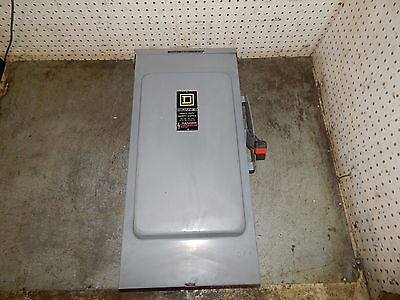 Square D Heavy Duty Safety Switch 200Amp 600VAC 3PH Non-Fusible