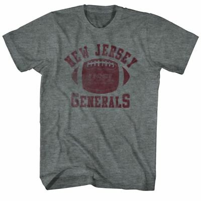 T-Shirts Sizes S-5XL New Authentic USFL New Jersey Generals Red Mens T-Shirt