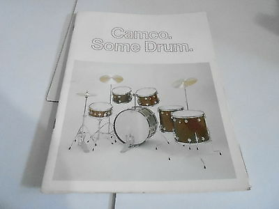 VINTAGE MUSICAL INSTRUMENT CATALOG #10660 1975 CAMCO DRUMS w/price list