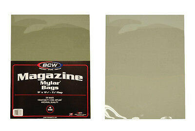 (100) BCW MAG-M4 Magazine Mylar Sleeves 4mil Bags Covers Store Protect Archival