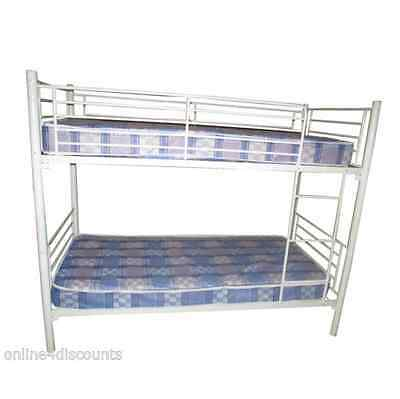 Orlando Cream Metal Bunk Bed mattress option off white