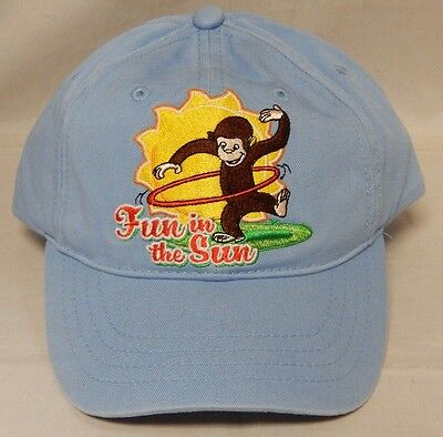 Curious George Movie Promo Fun in the Sun Adjustable Hat Never Been Worn! Rare!