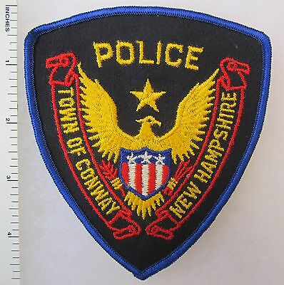 TOWN of CONWAY NEW HAMPSHIRE POLICE - ORIGINAL Vintage SHOULDER PATCH