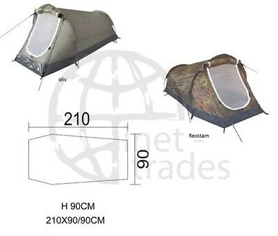 TUNNEL TENT 1 Man Person Camping Outdoor Single One-man camoflauge