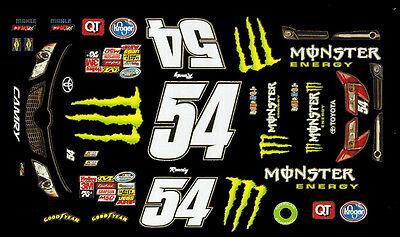 #54 Kyle Busch  Cambry 2012 1/64th HO Scale WATERSLIDE DECALS