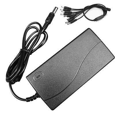 DVR 8 Split Power Cable DC12V 5A Power Supply Adapter for CCTV Security Camera