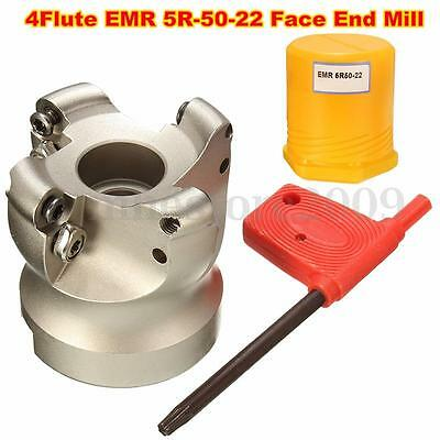 4Flute EMR 5R-50-22 Face End Mill Cutter Indexable CNC Cutter for Flat Cutting