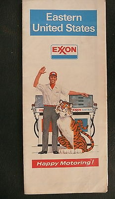 1973 Eastern United States road map Exxon oil gas