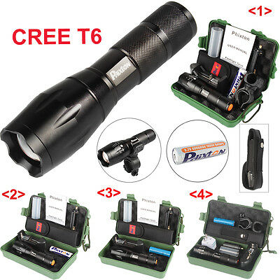 5000LM LED Flashlight CREE T6 Tactical Rechargeable Torch 18650 Battery Mount