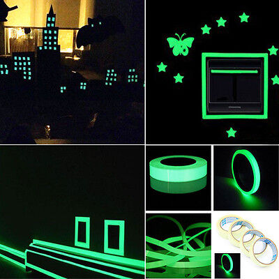 Safety Self-adhesive Strip Phosphorescent Luminous Decals Glow In The Dark Tape