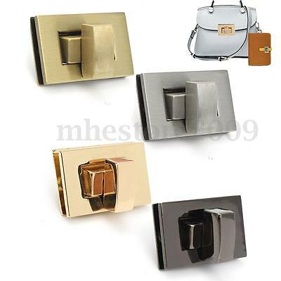 New Rectangle Shape Clasp Turn Lock Twist Lock DIY Leather Handbag Bag Hardware