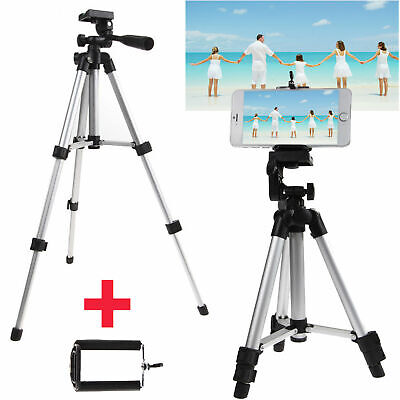 Portable Professional Adjustable Camera Tripod Stand Cell Phone Mount Holder