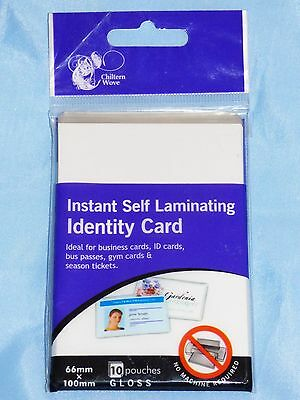 10 Self Laminating Identity Id Card Pouches Sheets Gym Membership Laminator Work