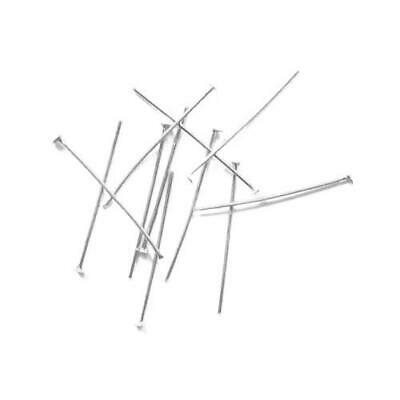 Packet 400+ Silver Plated Iron Flat Head Pins 0.7 x 30mm HA06865