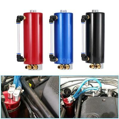 Car Racing Oil Catch Tank Billet Round Turbo Reservoir Can Kit Universal G7A7