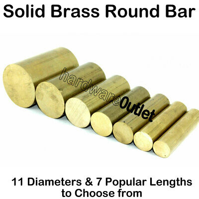 CZ121 Solid Brass ROUND bar Rod - 11 Diameters & 7 Lengths available Milling