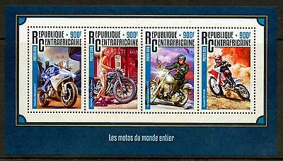 Central Africa 2016 Motocycles Of The World Sheet  Mint Nh