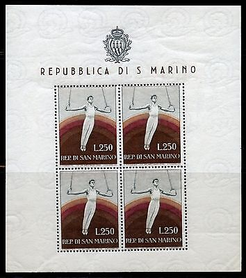 SAN MARINO GYMNAST SHEET OF FOUR SCOTT#355a MINT NEVER HINGED