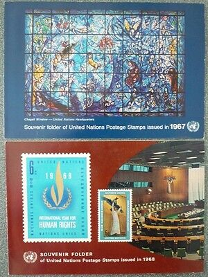 United Nation 1966-71 Collection Of 9 Stamp Souvenir