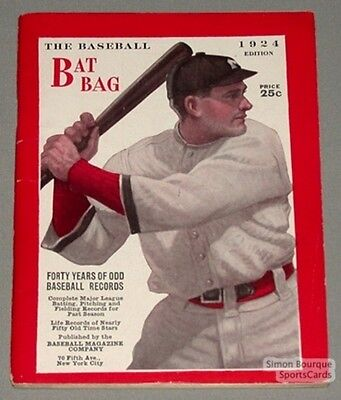 Rare 1924 Baseball Bat Bag Book