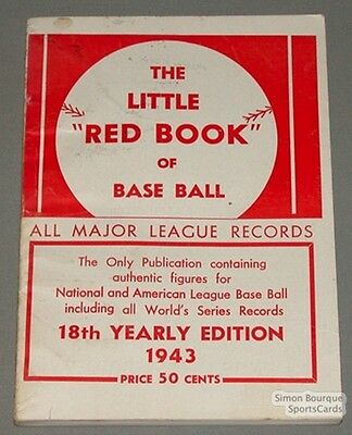 Rare 1943 Baseball Spalding's The Little Red Book