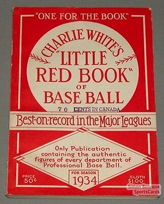 Rare 1934 Baseball Spalding's The Little Red Book