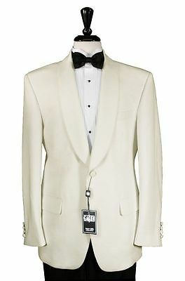 New Men's Ivory Shawl Dinner Jacket Formal Wedding Cruise Tuxedo Cream TUXXMAN