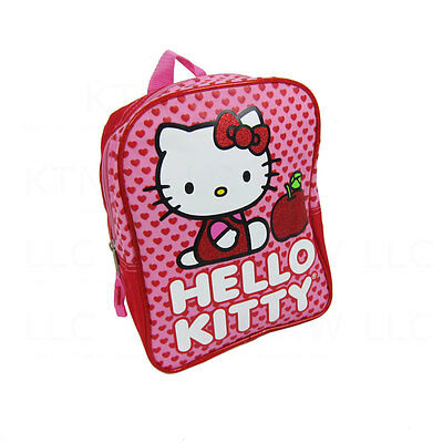 New Sanrio Hello Kitty Red Hearts Apple Kids Backpack School Supplies