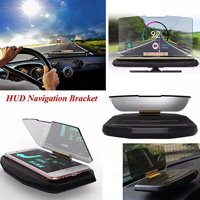 Car GPS Mobile Navigation Bracket HUD Head Up Display for Smart Phone Universal