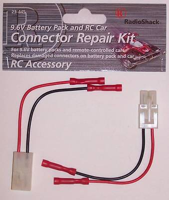 RadioShack 23-445 9.6V Battery Pack and RC Car Connector Replacement Repair Kit