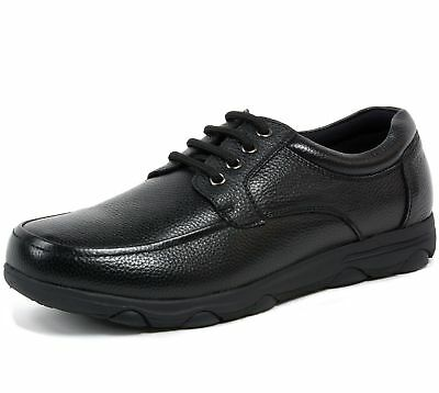 Alpine Swiss Garson Mens Leather Work Shoes Oil & Slip Resistant Lace Up Oxfords