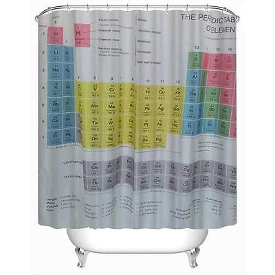 Curtains Ideas chemistry shower curtain : Periodic Table of Elements Chemistry Shower Curtain with Hooks ...