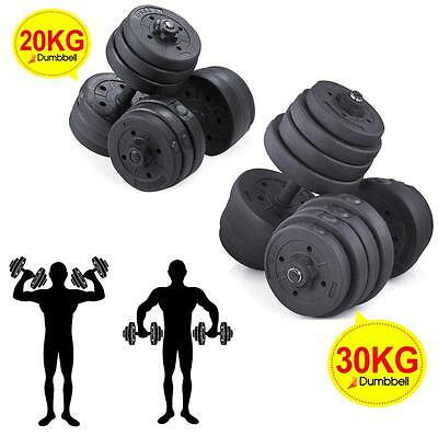 20KG/30KG 2X Weights Dumbbell Set Gym Workout Fitness Biceps Exercise Training