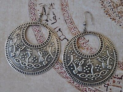 Traditional Egyptian zar cult Silver Earring-New